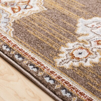 Lenora Classic Camel Indoor/Outdoor Area Rug Rug Size: Rectangle 53 x 73