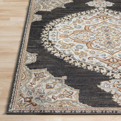 Lenora Classic Black Indoor/Outdoor Area Rug Rug Size: Rectangle 710 x 103