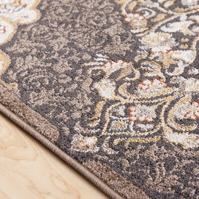 Lenora Classic Floral and Plants Camel Indoor/Outdoor Area Rug Rug Size: Rectangle 53 x 73