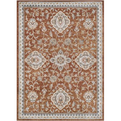 Lenora Classic Burnt Orange Indoor/Outdoor Area Rug Rug Size: Rectangle 2 x 3