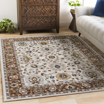 Lenora Floral and Plants Burnt Orange Indoor/Outdoor Area Rug Rug Size: 2 x 3