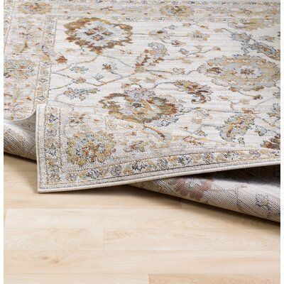 Lenora Light Gray Area Rug Rug Size: Rectangle 5'3