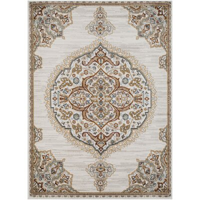 Lenora Light Gray Area Rug Rug Size: Rectangle 53 x 73