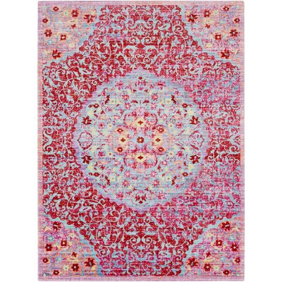 Lyngby-Taarb�k Classic Red Area Rug Rug Size: Rectangle 53 x 73