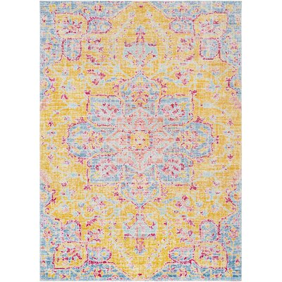 Lyngby-Taarb�k Bright Yellow Area Rug Rug Size: 53 x 73