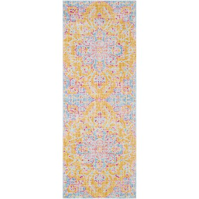 Lyngby-Taarb�k Bright Yellow Area Rug Rug Size: Runner 3 x 71