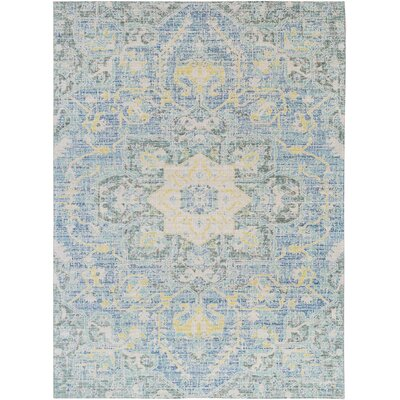 Lyngby-Taarb�k Aqua/Bright Yellow Area Rug Rug Size: 710 x 103