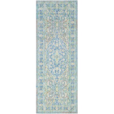 Lyngby-Taarb�k Floral and Plants Aqua Area Rug Rug Size: Runner 3 x 71