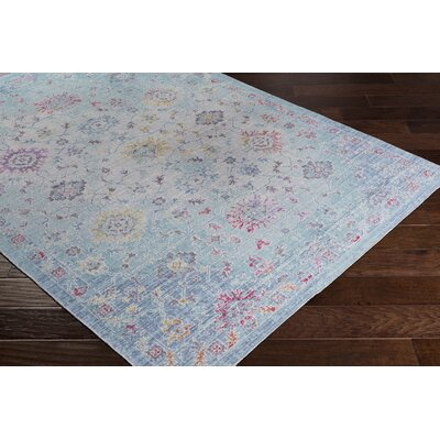 Lyngby-Taarb�k Classic Floral and Plants Aqua Area Rug Rug Size: 3 x 5
