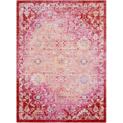 Lyngby-Taarb�k Floral and Plants Garnet Area Rug Rug Size: Rectangle 53 x 73