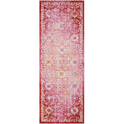 Lyngby-Taarb�k Floral and Plants Garnet Area Rug Rug Size: Runner 3 x 71