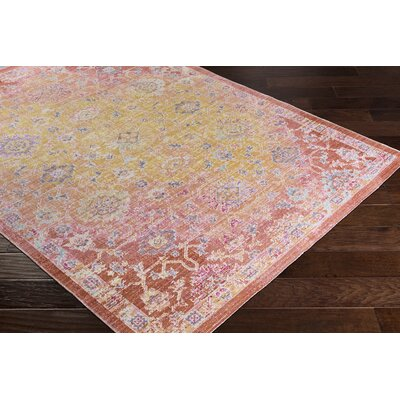 Lyngby-Taarb�k Classic Bright Yellow Area Rug Rug Size: Rectangle 53 x 73