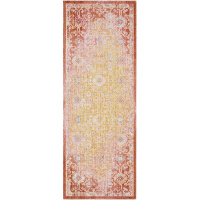 Lyngby-Taarb�k Classic Bright Yellow Area Rug Rug Size: Runner 3 x 71