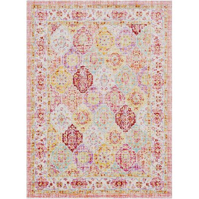 Lyngby-Taarb�k Lilac/Bright Yellow Area Rug Rug Size: 53 x 73