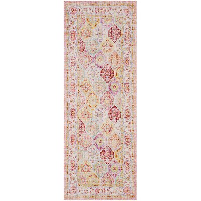Lyngby-Taarb�k Lilac/Bright Yellow Area Rug Rug Size: Runner 3 x 71