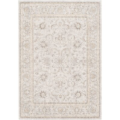 Jazzerus Floral and Plants Beige Area Rug Rug Size: Rectangle 710 x 103