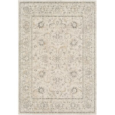 Jazzerus Classic Taupe Area Rug Rug Size: Rectangle 53 x 73