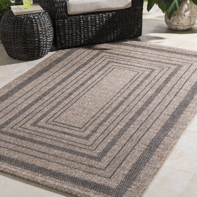 Homer Dark Brown Indoor/Outdoor Area Rug Rug Size: Rectangle 710 x 103