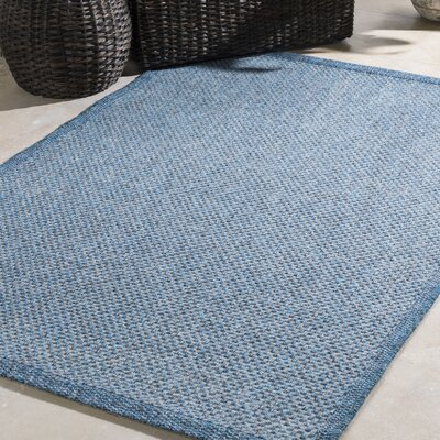 Sarang Sky Blue Indoor/Outdoor Area Rug Rug Size: Rectangle 710 x 103