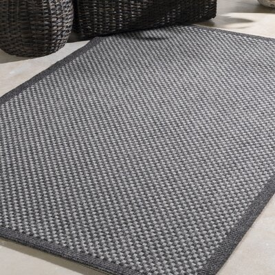 Sarang Gray Indoor/Outdoor Area Rug Rug Size: Rectangle 5 x 76