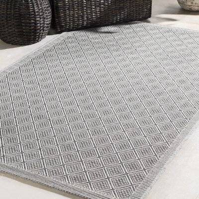 Sarang Light Gray Indoor/Outdoor Area Rug Rug Size: Rectangle 5 x 76