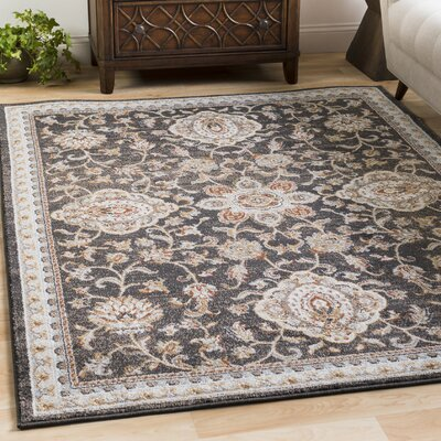 Lenora Black Indoor/Outdoor Area Rug Rug Size: 2 x 3