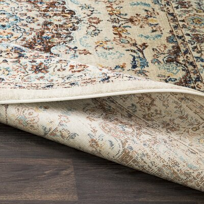 Cassie Vintage Floral Orange/Khaki Area Rug