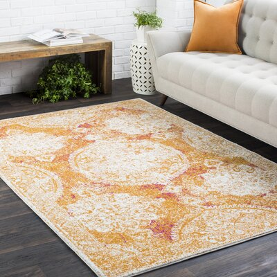 Andover Vintage Burnt Orange/Ivory Area Rug