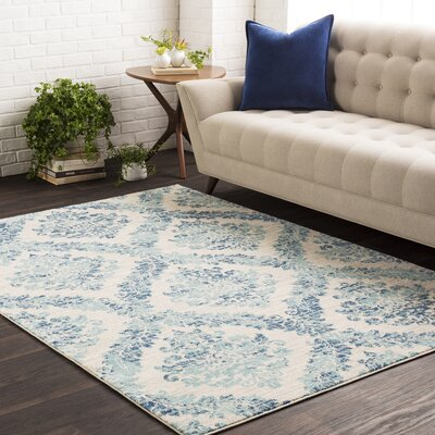 Andover Vintage Dark Blue/Teal Area Rug