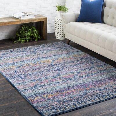 Arteaga Persian Traditional Oriental Blue/Purple Area Rug Rug Size: 27 x 73