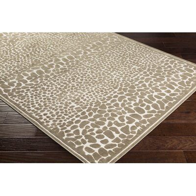Markita Butter/Taupe Area Rug Rug Size: Rectangle 4 x 57