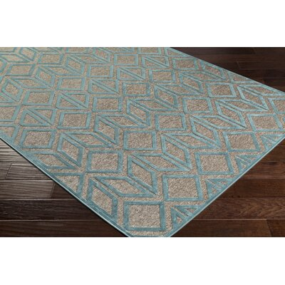 Pospisil Modern Geometric Taupe/Teal Area Rug Rug Size: Rectangle 4 x 57