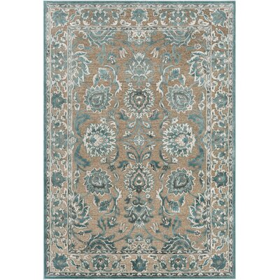Northlake Floral Teal Area Rug Rug Size: Rectangle 52 x 76