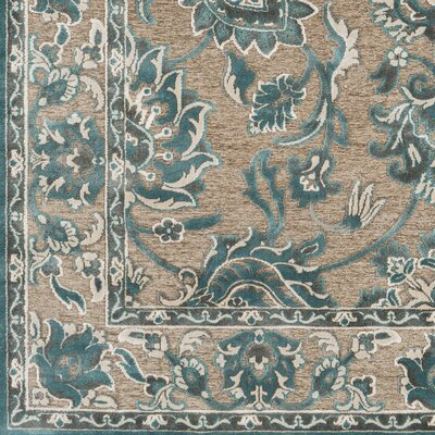 Northlake Floral Teal Area Rug Rug Size: Rectangle 76 x 106