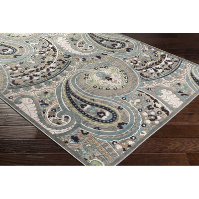 Hester Paisley Teal/Taupe Area Rug Rug Size: Rectangle 88 x 12