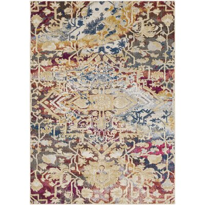 Manila Dark Blue/Khaki Area Rug Rug Size: Rectangle 53 x 73