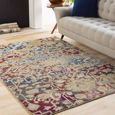 Manila Dark Blue/Khaki Area Rug Rug Size: Rectangle 67 x 96