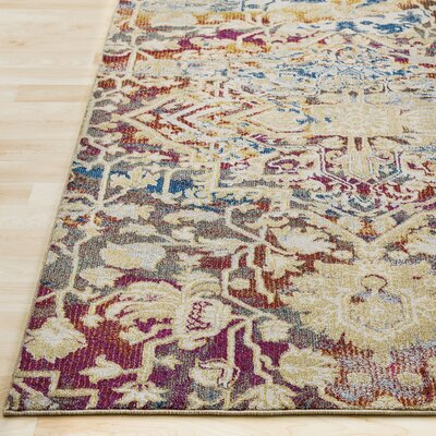 Manila Dark Blue/Khaki Area Rug Rug Size: Rectangle 2 x 3
