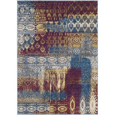 Winters Abstract Dark Blue/Dark Purple Area Rug Rug Size: 53 x 73