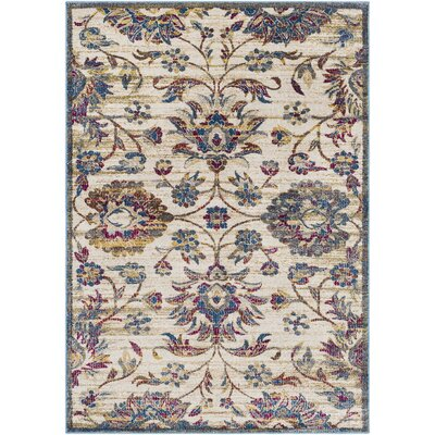 Alto Vintage Floral Dark Blue/Khaki Area Rug Rug Size: Rectangle 53 x 73
