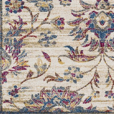 Alto Vintage Floral Dark Blue/Khaki Area Rug Rug Size: Rectangle 93 x 123