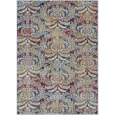 Malbrough Dark Blue/Dark Red Area Rug Rug Size: Rectangle 2 x 3