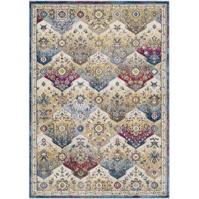 Scottville Vintage Floral Khaki Area Rug Rug Size: Rectangle 53 x 73