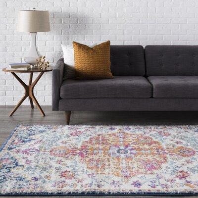 Andover Vintage Floral Saffron Area Rug Rug Size: 3 x 5