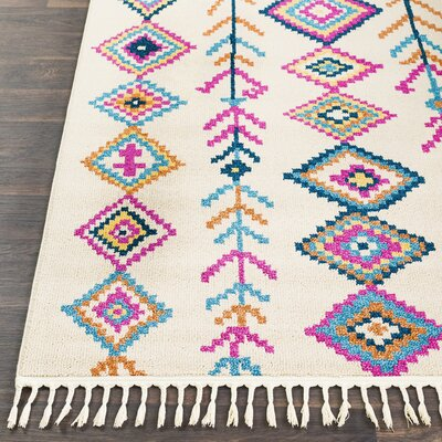Kaliska Modern Bohemian Bright Pink/Khaki Area Rug Rug Size: Runner 27 x 73