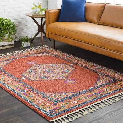 Kaliska Traditional Rust/Coral Area Rug Rug Size: Runner 27 x 73
