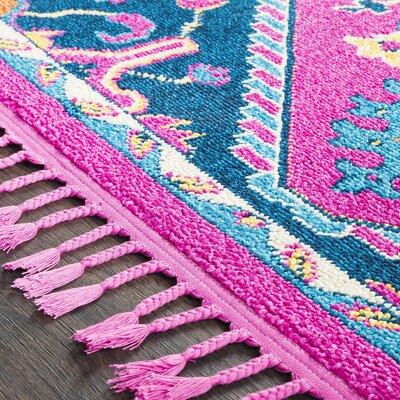 Kaliska Floral Bright Pink Area Rug Rug Size: Runner 27 x 73