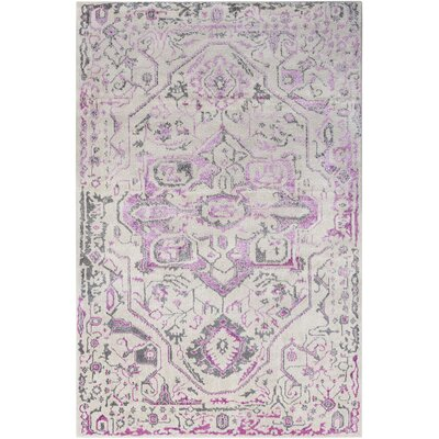 Nicole Bright Pink/Khaki Area Rug Rug Size: Rectangle 53 x 73