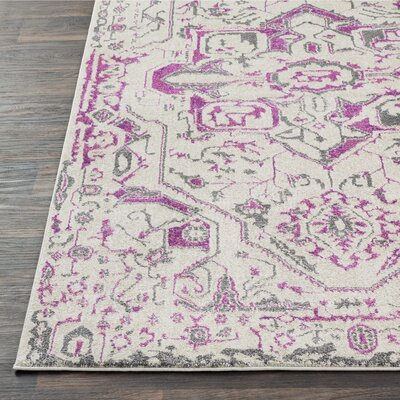 Nicole Bright Pink/Khaki Area Rug Rug Size: Rectangle 67 x 96