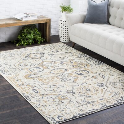 Nicole Tan/Charcoal Area Rug Rug Size: Rectangle 2 x 3